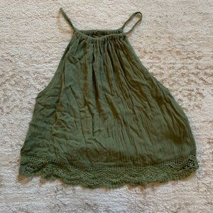 Cropped Green Halter top